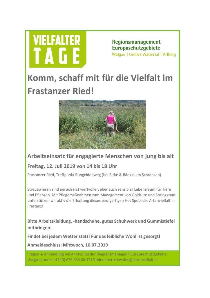 Poster Vielfaltertag Frastanzer Ried2019